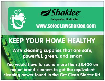 Announcing our shaklee postcard re design winner and a for Shaklee business cards